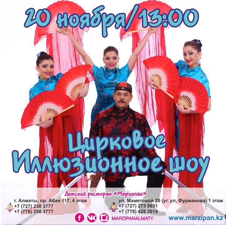 Цирковое Иллюзионное шоу Мага-иллюзиониста Тимура Якубова